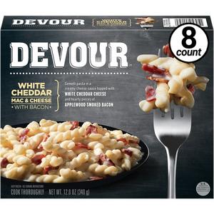 Devour White Cheddar Mac & Cheese w/Bacon, 12 Oz (8 Count)