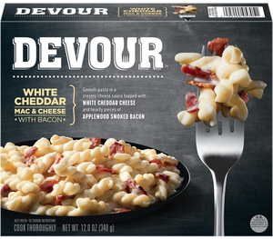 Devour White Cheddar Mac & Cheese w/Bacon, 12 Oz (1 Count)