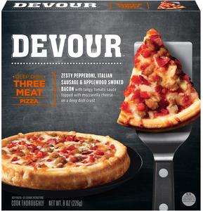 Devour Three Meat Sicilian Pizza, 8 Oz (1 Count)