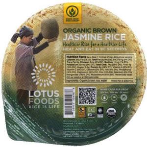 Lotus Foods Organic Brown Jasmine Rice 7.4 oz. bowl (1 count)