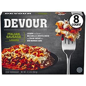 Devour Italian Sausage Lasagna, 12.5 Oz (8 Count)