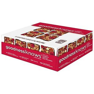 Goodness Knows, Cranberry, Almond & Dark Chocolate, 1.2 Oz Bars (12 Count)