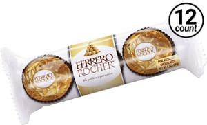 Ferrero Rocher, Fine Hazelnut Chocolates, 3 Pack, 1.3 oz. (12 Count)