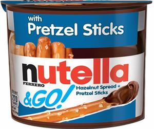 Nutella & Go Packs with Pretzel Sticks, 1.9 oz. Packs (12 Count)