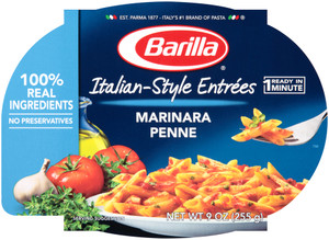 Barilla, Italian Entrees, Marinara Penne, 9.0 oz. Bowl (1 Count)
