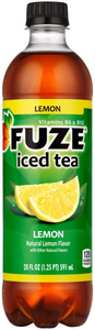 Fuze Iced Tea, Lemon, 20 Oz Plastic Bottle (24 Count)