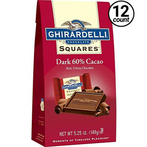 Ghirardelli Chocolate, Dark Chocolate 60% Cocoa, 5.25 oz. (12 Count)