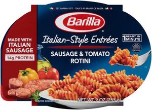 Barilla, Italian Entrees, Sausage & Tomato Rotini, 9.0 oz. Bowl (1 Count)