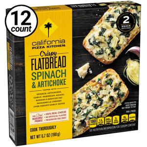 California Pizza Kitchen, Spinach & Artichoke, Crispy Flatbread, 6.7 oz. (12 Count)