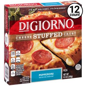 DiGiorno, Cheese Stuffed Crust, Pepperoni Pizza, 8.5 oz. Pizza (12 Count)