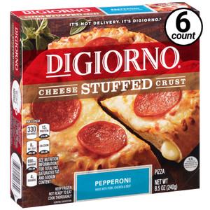 DiGiorno, Cheese Stuffed Crust, Pepperoni Pizza, 8.5 oz. Pizza (6 Count)