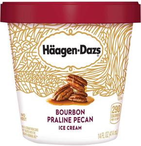 Haagen-Dazs, Bourbon Praline Pecan, Pint (1 Count)