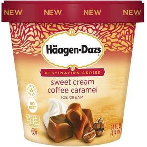 Haagen-Dazs, Sweet Cream Caramel Coffee, Pint (1 Count)