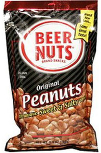 Beer Nuts, Original Peanuts, Sweet and Salty, 2.0 oz. Peg Bag (1 Count)