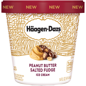 Haagen-Dazs, Peanut Butter Salted Fudge, Pint (1 Count)