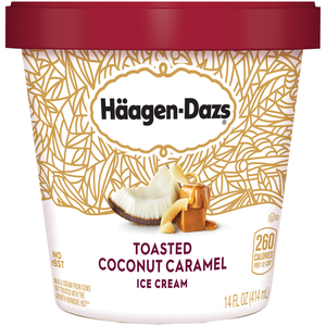 Haagen-Dazs, Toasted Coconut Caramel, Pint (1 Count)