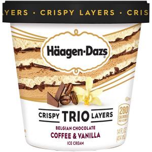 Haagen-Dazs, TRIO Coffee Vanilla Chocolate, Pint (1 Count)