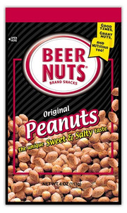 Beer Nuts, Original Peanuts, Sweet and Salty, 4.0 oz. Bag (1 Count)