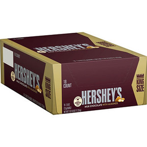 Hershey's Milk Chocolate with Almonds, KING SIZE 2.6 oz. Bar (18 count)