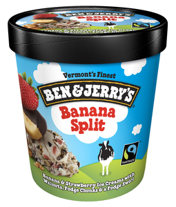 Ben & Jerry's, Banana Split Ice Cream, Pint (1 Count)
