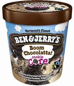 Ben & Jerry's, Boom Chocolatta Cookie Core Ice Cream, Pint (1 Count)