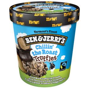 Ben & Jerry's Chocolate Chillin' the Roast Truffles Ice Cream, Pint, (1 count)