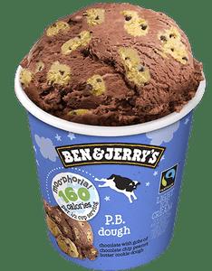 Ben & Jerry's Peanut Butter Doughlicious Ice Cream, Pint, (1 count)