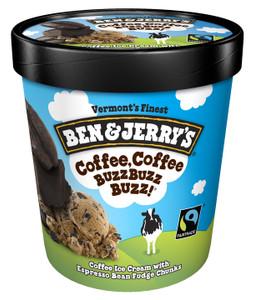 Ben & Jerry's, Chocolate Coffee, Coffee BuzzBuzzBuzz! Ice Cream, Pint (1 Count)