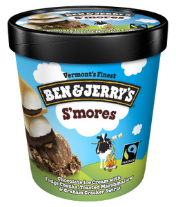 Ben & Jerry's, S'Mores Ice Cream, Pint (1 Count)