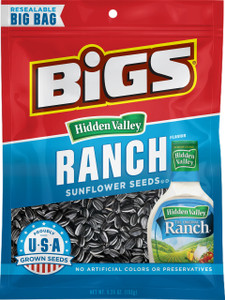 BIGS, Hidden Valley Ranch Sunflower Seeds, 5.35 oz. Bag (1 Count)