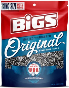 BIGS, Original Salted & Roasted Sunflower Seeds, 5.35 oz. Bag (1 Count)
