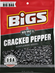 BIGS, Sea Salt & Black Pepper Sunflower Seeds, 5.35 oz. Bag (1 Count)