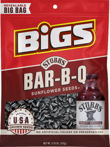 BIGS, Stubbs Smokey Sweet Bar-B-Q Sunflower Seeds, 5.35 oz. Bag (1 Count)