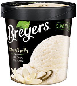 Breyer's, Vanilla All Natural, Ice Cream, Pint (1 Count)