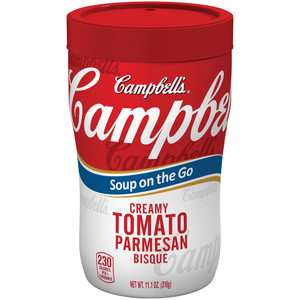 Campbell's, at Hand, Creamy Tomato Parmesan Bisque, 11.10 oz. Microwavable Cup (1 Count)