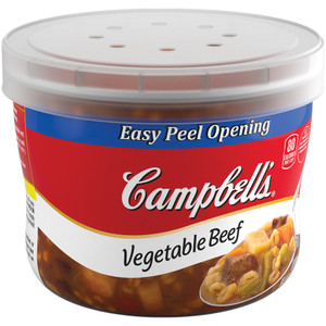 Campbell's, Vegetable Beef, 15.4 oz. Microwavable Bowl (1 Count)