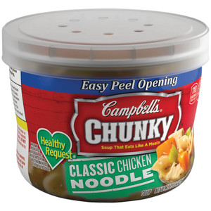 """Campbell's, Chunky Soup, Chicken Noodle """"Healthy Request"""", 15.25 oz. Microwavable Bowl (1 Count)"""