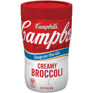Campbell's, Soup at Hand, Cream of Broccoli, 10.90 oz. Microwavable Cup (1 Count)