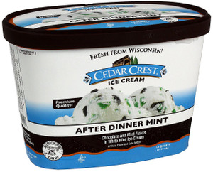 Cedar Crest, After Dinner Mint Ice Cream, Squround (1 Count)