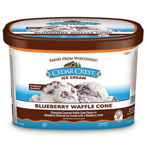 Cedar Crest, Blueberry Waffle Cone Ice Cream, Squround (1 Count)