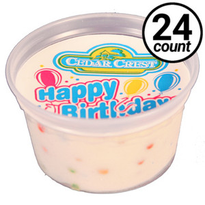 Cedar Crest, Happy Birthday ice cream, 3.0 oz. Cups (24 Count)