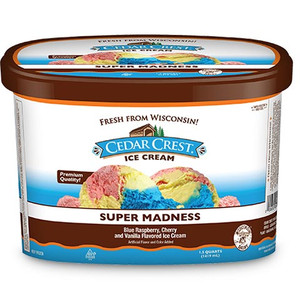 Cedar Crest, Super Madness Ice Cream, Squround (1 Count)