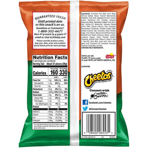 Cheetos, Cheddar Jalapeno, 2.0 oz. Bag (1 Count)