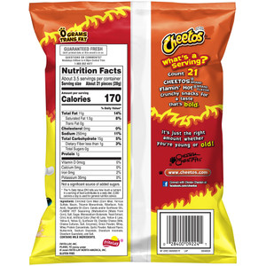 Cheetos, Flamin' Hot, 3.25 oz. Bag (1 Count)