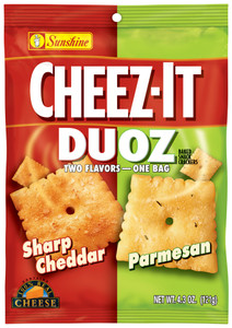 Cheez-It, Duoz, Sharp Cheddar & Parmesan Cheese, 4.3 oz. Bag (1 Count)