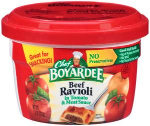 Chef Boyardee, Beef Ravioli, 7.5 oz. Microwavable Bowl (1 Count)