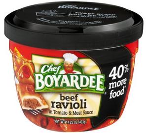 Chef Boyardee, Big Bowl Beef Ravioli, 14 oz. Microwavable Bowl (1 Count)