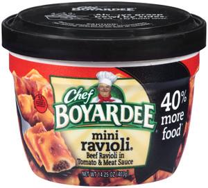Chef Boyardee, Big Bowl Mini Beef Ravioli, 14 oz. Microwavable Bowl (1 Count)