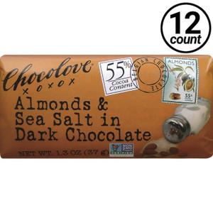 Chocolove Mini, Almonds and Sea Salt in Dark Chocolate, 1.3 oz. (12 Count)