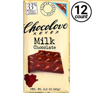 Chocolove, Milk Chocolate 33% Cocoa, 3.2 oz. Bars (12 Count)